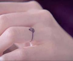diamond ring tattoo, I want my wedding ring tattooed on