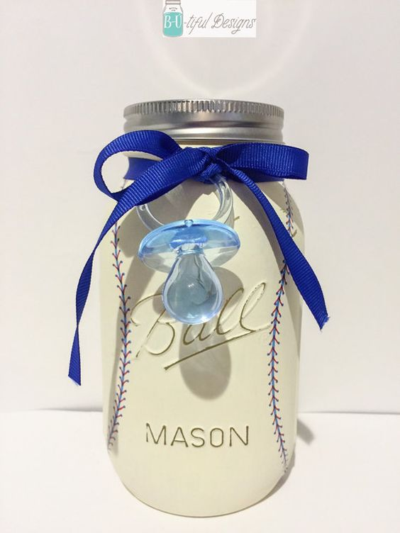 Baseball Baby Showers Baseball Babies And Mason Jar