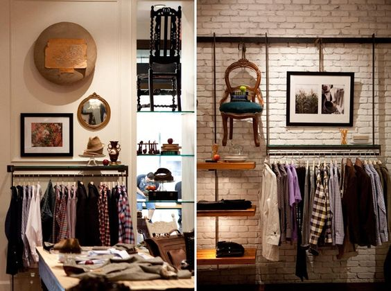 clothing store interior osastojen sekoittaminen seinille | Men\'s ...