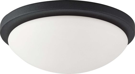 Nuvo Button ES - 1 Light 11 inch - 18w GU24 (included) Flush Dome w/ White Glass