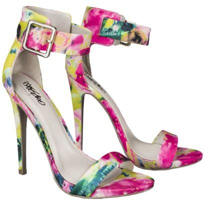 Women's Mossimo® Shari Ankle Strap Heels - Floral | My Style ...