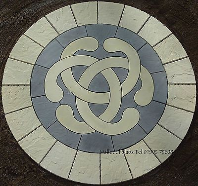2.56M LOVE KNOT CIRCLE BUFF RING PAVING PATIO SLAB CELTIC STONE FEATURE
