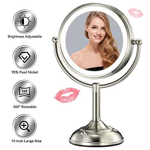 Vesaur Professional 10 Large Size Lighted Makeup Mirror 5x