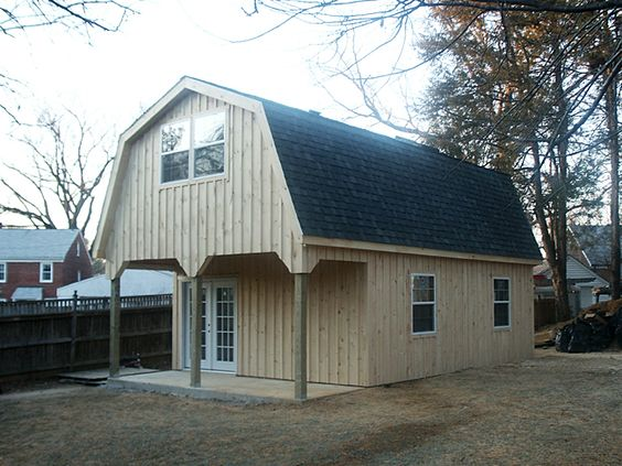 Art studios gambrel roof and gambrel on pinterest for Custom barn homes