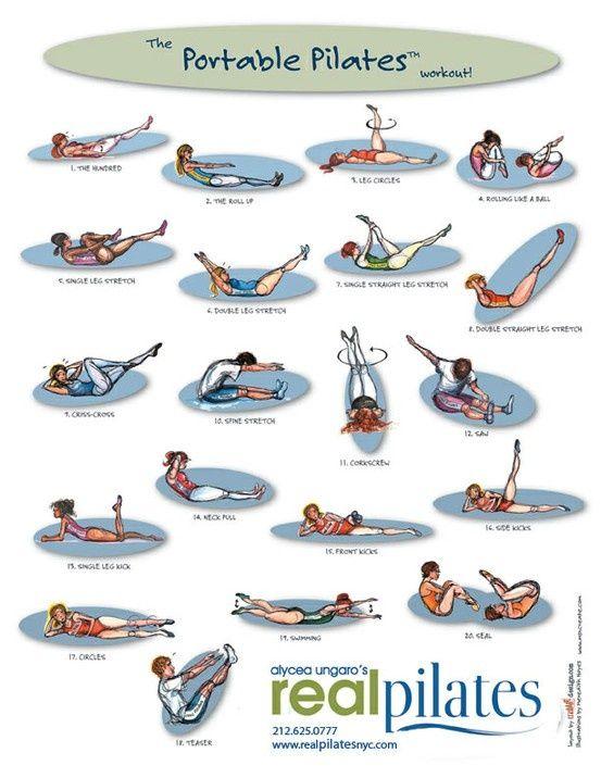 Portable Pilates - love this visual on doing full body Pilates!
