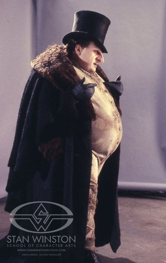 Danny DeVito in full makeup & costume for the BATMAN RETURNS makeup test.