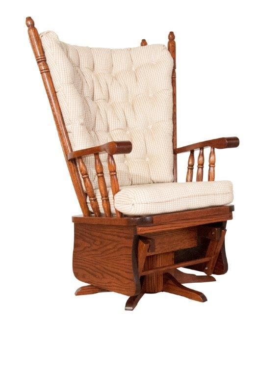 Amish Highback Swivel Glider Amish Rocking Chairs Glider Rocker Cushions Amish Furniture