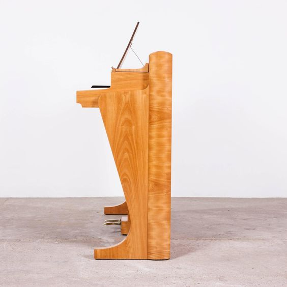 Elm Andreas Christensen Upright Piano Designed by Poul Henningsen   From a unique collection of antique and modern musical instruments at https://www.1stdibs.com/furniture/more-furniture-collectibles/musical-instruments/