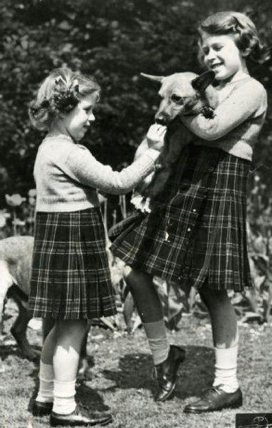 Queen Elizabeth II and Margaret