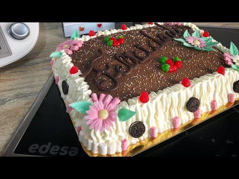 Tarta De Cumpleaños Como Hacer Una Tarta De Cumpleaños En Thermomix Tarta De Nata Y Trufa Youtube Tarta De Natillas Como Hacer Una Tarta Tartas