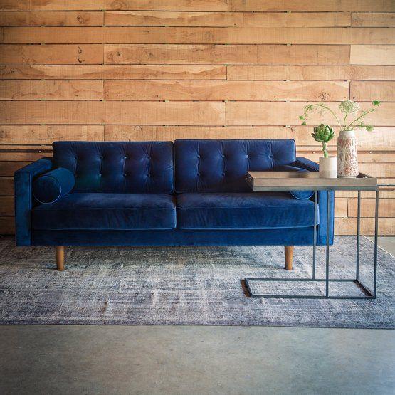 Canapé en velours classic blue