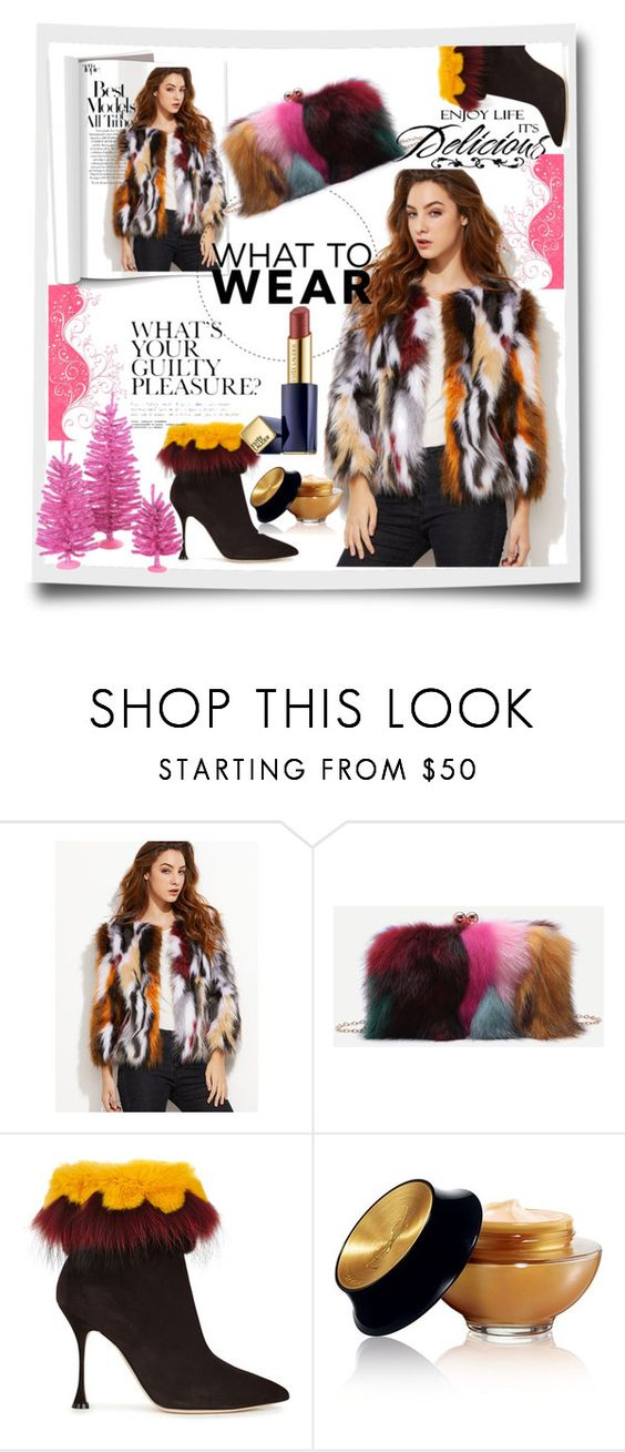 """""""Happy winter"""" by lindaking67 ❤ liked on Polyvore featuring Manolo Blahnik, Yves Saint Laurent, WALL and Estée Lauder"""