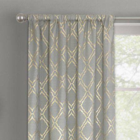 cbe1f0dc243da94582edc9eef711d311 - Better Homes & Gardens Metallic Foil Trellis Curtain Panel