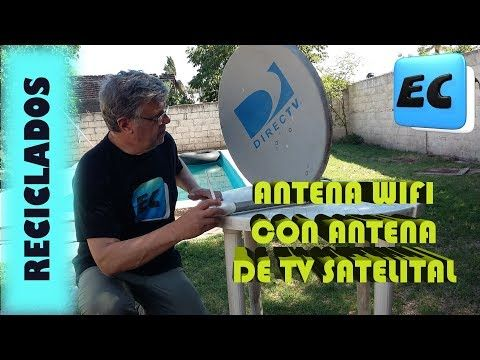 Antena Wifi Con Antena Satelital Reciclado Youtube Wifi Gadgets Wifi Booster Wifi Signal Booster