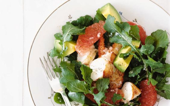 lobster, avocado + grapefruit salad