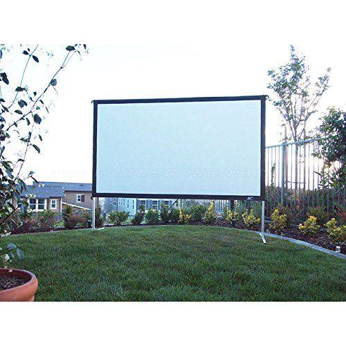 Elite Screens Yard Master 2 Series Outdoor Projection Screen Outdoor Projector Projector Screen