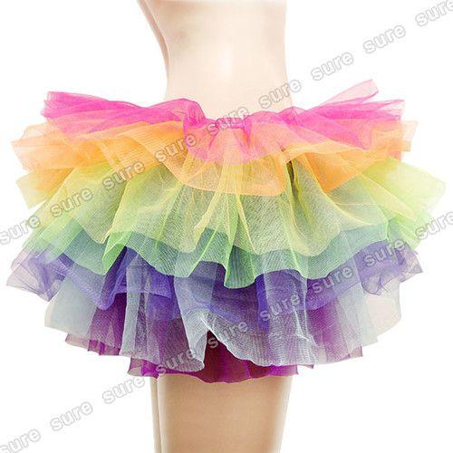 TUTU Tütü Rock Petticoat Ballett Kleid Pettiskirt Unterrock 8 Farben | eBay