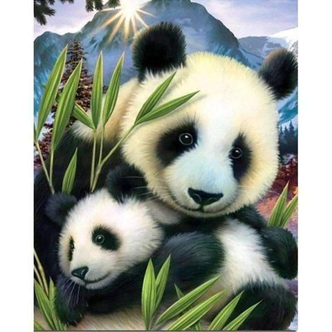 5D Diamond Painting Full Drill Cross Stitch Animals Red Panda Embroidery Decor