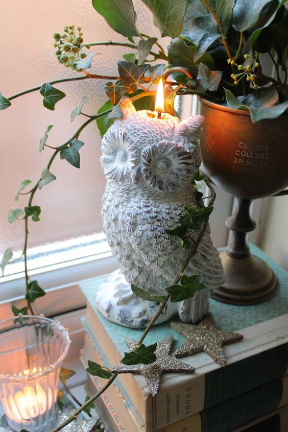 White Owl candle from Limelace see more on Livingcolourstyle.com