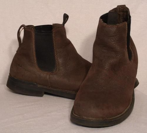 Mens Size 10.5 Cherokee Slip On Boots Brown Leather Stylish Casual