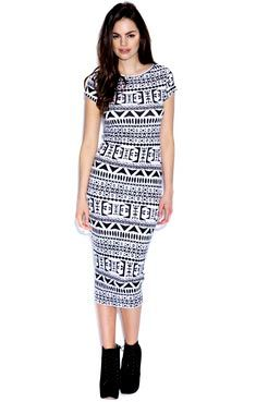 It's all about this Amie Aztec Print Cap Sleeve Midi Dress > buy now at boohoo.com