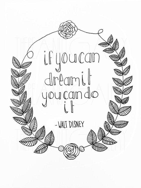 Walt Disney Quote by PeanutGalleryPrints on Etsy