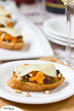 Sweet Potato and Brie Bruschetta | ExploreAsheville.com