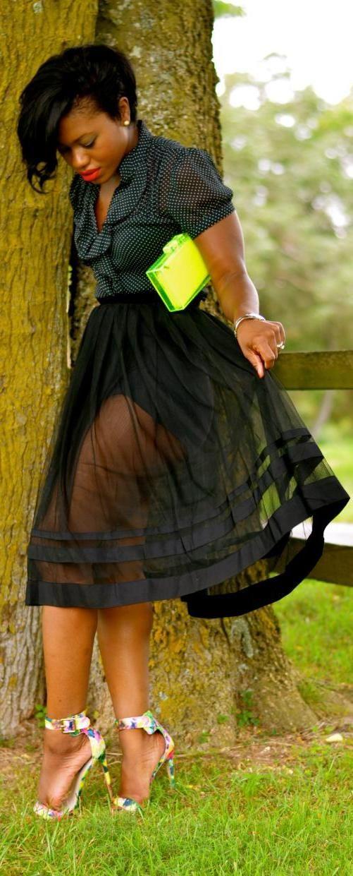 Plus size sheer overlay dress