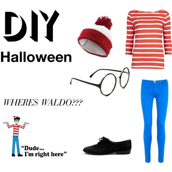 """DIY Halloween Costume - Wheres Waldo?"" by iamthedoctor1 on Polyvore:"