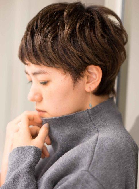大人カッコ可愛いフレンチベリーショート 髪型ベリーショート ヘア