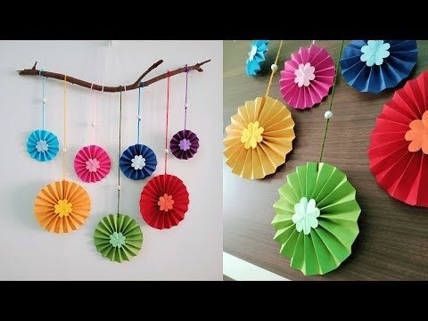 Paper Flower Wall Hanging Diy Easy Paper Crafts Tutorial Wall
