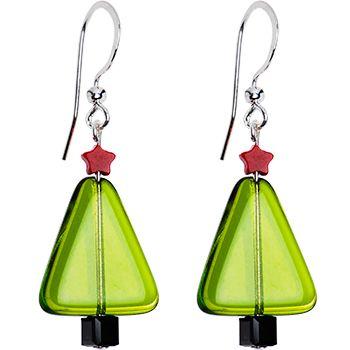 Handcrafted Holiday Christmas Tree Earrings #Christmas #holiday #tree