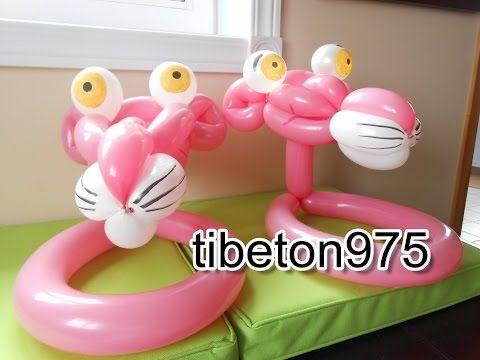 """N° 81 le chapeau """"Panthère rose"""" Pink panther hat balloon tutorial - YouTube - Pink Panther Tutorial"""