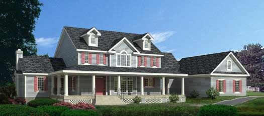 Country Style House Plans - 3583 Square Foot Home , 2 Story, 4 Bedroom and 3 Bath, 3 Garage Stalls by Monster House Plans - Plan 21-661