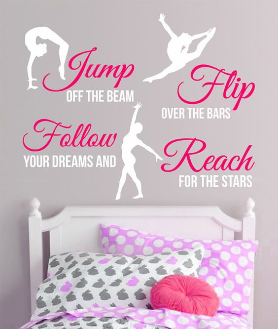 GYMNASTICS Subway Art 2-Color SPORT Girl QUOTE by SunshineGraphix