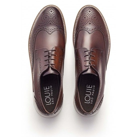 SAPATO MASCULINO BROGUE YELL WHISKY | Louie SP: