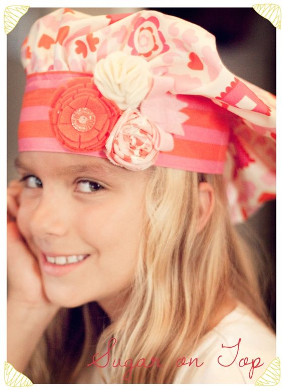 """""""sugar on top"""" chef hat pattern... adorable"""