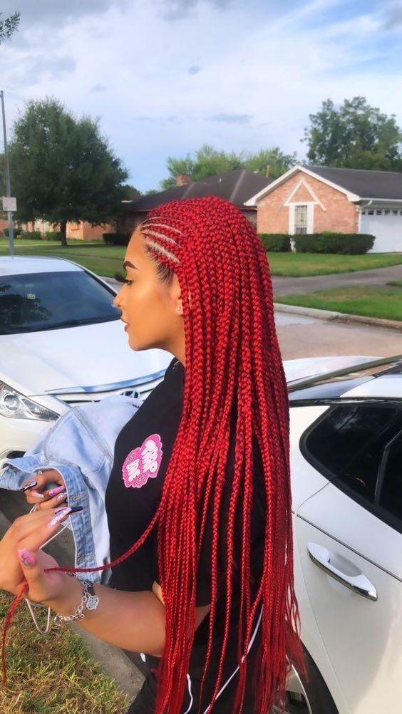 Colored Hair Twist Braids Black Girl Braided Hairstyles African Braids Hairstyles Braided Hairstyles