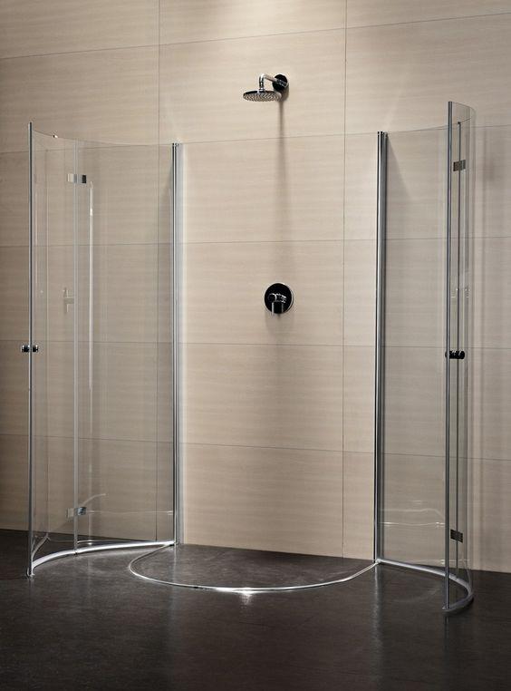 Box doccia semicircolare in cristallo con porte a battente MULTI-S 4000   Box doccia semicircolare - DUKA