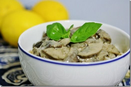 Vegan Mushroom Stroganoff-- Plus this site has TONS of other recipes I want to try- Vegan and many raw