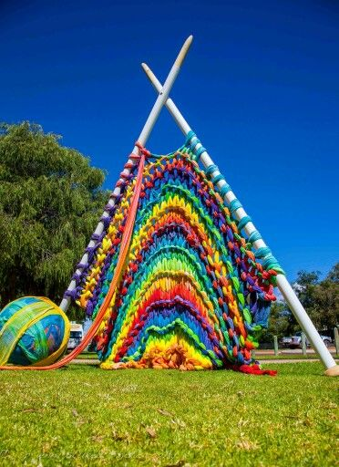 Knitting Artists : Knitting sculptures and yarns on pinterest