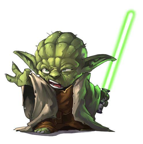 Yoda Character Design : Drawing illustration chibi anime painting star wars