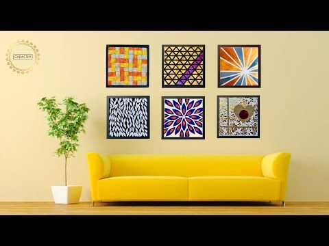 6 Hyper Easy Wall Art Ideas For Your Living Room Gadac Diy Home Decorating Ideas Youtube In 2020 Simple Wall Art Home Decor Home Diy