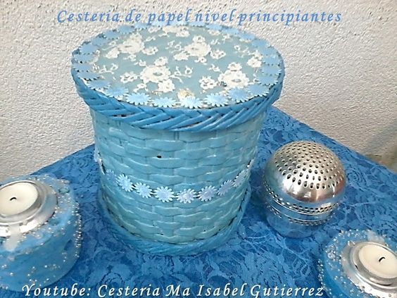 Cestería de papel nivel principiantes. DIY Paper baskets beginners level