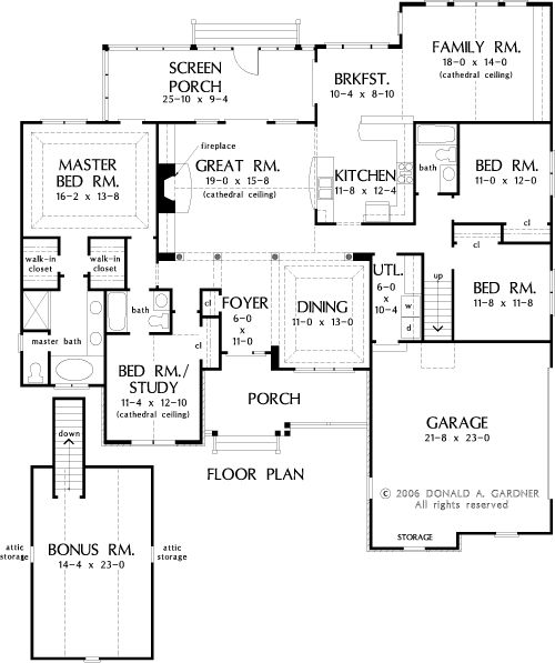 The Walnut Creek House Plans First Floor Plan House