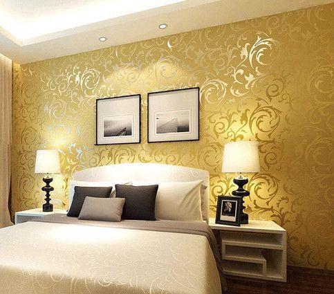 3d Gold Printed Wallpaper Wallpaper Living Room Wallpaper Bedroom Silver Wallpaper Bedroom Color room wall wallpaper images