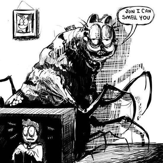 Surreal Terrifying Garfield Comics Are Suddenly Everywhere Horror Art Horror Game Horror