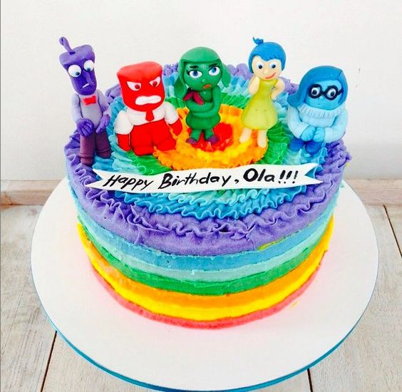 birthday cake ideas inside out