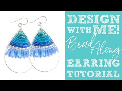 Design With Me Bead Along Diy Beaded Earring Tutorial Video
