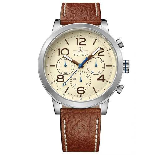 Relógio Tommy Hilfiger Masculino Couro Marrom - 1791230